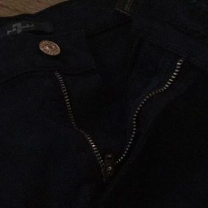 7 For All Mankind Shorts - Navy jean shorts with rips at the end